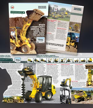 Wacker Neuson Corporation new dealer recruitment Magazine Insert advertising - construction equipment
