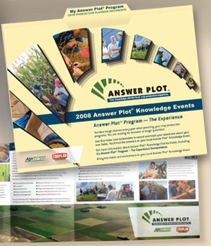 Collateral Designer - Winfield Solutions, LLC - A Land O'Lakes Company - AgriSolutions / CROPLAN GENETICS seed - Event Literature