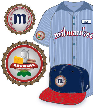 Illustrator - Milwaukee Brewers Design a YOUniform Contest - baseball uniform  design - baseball logo design