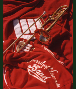 University of Wisconsin Marching Band Trombones Poster Photo Art Director Milwaukee