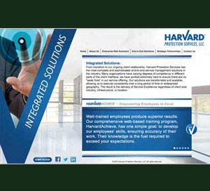 Web Design for Harvard Protection Services & Harvard Maintanance web design and coding using JavaScript jQuery sliders