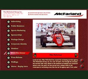 Web Design Milwaukee - Flash website design and build for advertising agency The McFarland Group